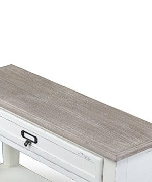 Baxton Studio Dauphine Traditional French 1 Drawer Accent Console Table White 0 2 300x360