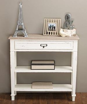 Baxton Studio Dauphine Traditional French 1 Drawer Accent Console Table White 0 300x360