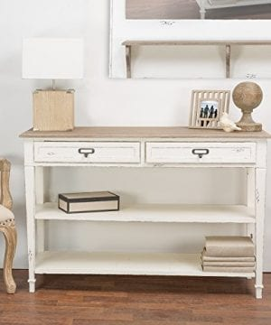 Baxton Studio Dauphine Traditional French Accent Console Table 3175 X 4113 X 158 White 0 300x360