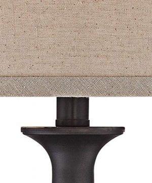 Ben Traditional Table Lamps Set Of 2 Dark Bronze Metal Beige Linen Drum Shade For Living Room Family Bedroom Bedside Regency Hill 0 1 300x360