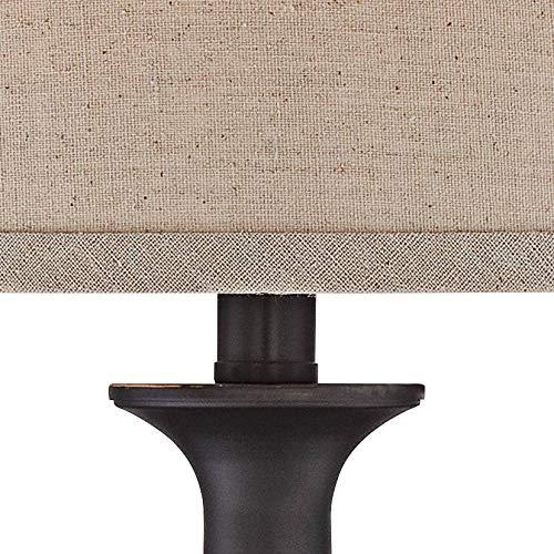 Ben Traditional Table Lamps Set Of 2 Dark Bronze Metal Beige Linen Drum Shade For Living Room Family Bedroom Bedside Regency Hill 0 1