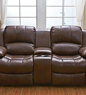 Betsy Furniture 3PC Bonded Leather Recliner Set Living Room Set In Brown Sofa Loveseat Chair Pillow Top Backrest And Armrests 8018 Brown Livingroom Set 321 0 3 300x333