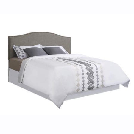 Better Homes And Gardens Grayson Linen Headboard With Nailheads King Gray King Gray 0 1