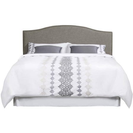 Better Homes And Gardens Grayson Linen Headboard With Nailheads King Gray King Gray 0 2