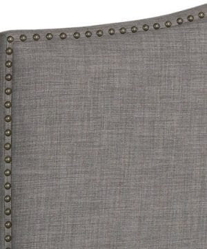Better Homes And Gardens Grayson Linen Headboard With Nailheads King Gray King Gray 0 3 300x360