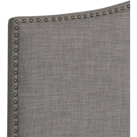Better Homes And Gardens Grayson Linen Headboard With Nailheads King Gray King Gray 0 3