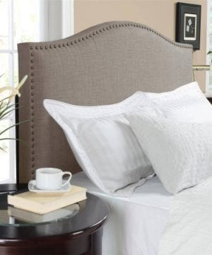 Better Homes And Gardens Grayson Linen Headboard With Nailheads King Gray King Gray 0 4 300x360