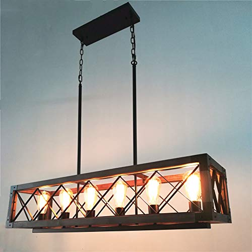 Beuhouz Long Wood Chandelier Light For