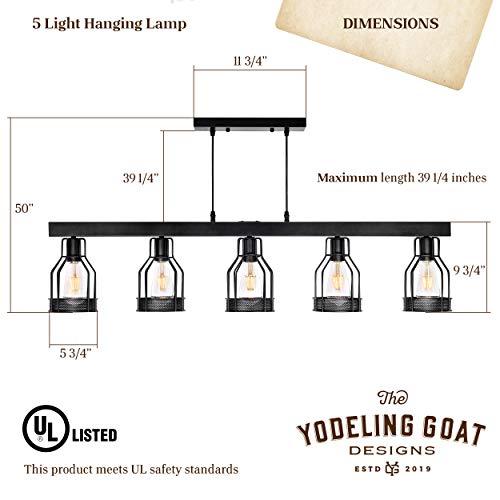 Dining Room Lighting Fixtures Hanging Pendant Lighting for Kitchen Island Black Farmhouse Chandelier Matte Black Iron Industrial Ceiling Light Fixture Pool Table Light