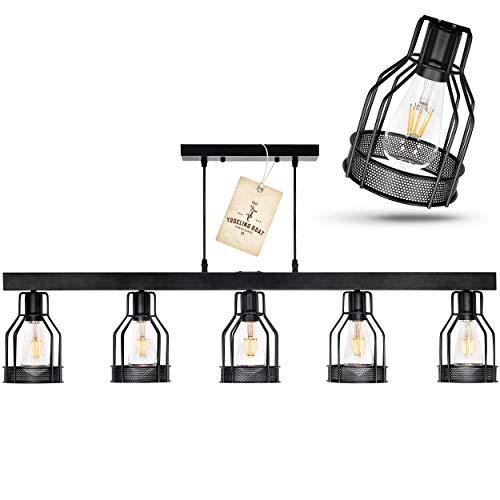 Black Farmhouse Chandelier Pendant Lighting For Kitchen Island Dining Room Lighting Fixtures Hanging Pool Table Light Matte Black Iron Industrial Ceiling Light Fixture 0