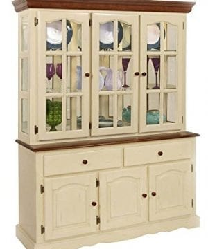 Boston Buffet And Hutch In Buttermilk And Cherry Finish 0 300x360