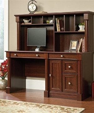 Bowery Hill Computer Desk With Hutch In Cherry 0 300x360