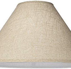 Burlap Empire Lamp Shade Rustic Fabric With Harp 6x19x12 Spider Brentwood 0 1 300x288