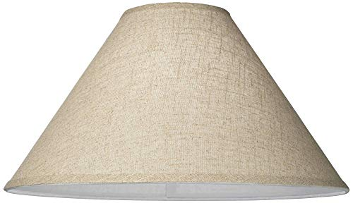Burlap Empire Lamp Shade Rustic Fabric With Harp 6x19x12 Spider Brentwood 0 1