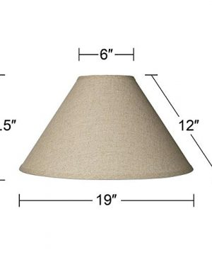 Burlap Empire Lamp Shade Rustic Fabric With Harp 6x19x12 Spider Brentwood 0 3 300x360