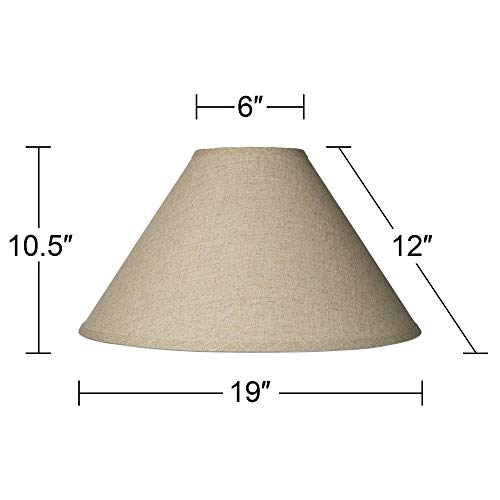 Burlap Empire Lamp Shade Rustic Fabric With Harp 6x19x12 Spider Brentwood 0 3