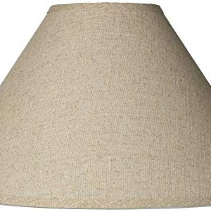 Burlap Empire Lamp Shade Rustic Fabric With Harp 6x19x12 Spider Brentwood 0 300x301