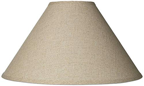 Burlap Empire Lamp Shade Rustic Fabric With Harp 6x19x12 Spider Brentwood 0