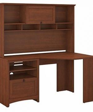 Bush Furniture Buena Vista Corner Desk With Hutch In Serene Cherry 0 300x360