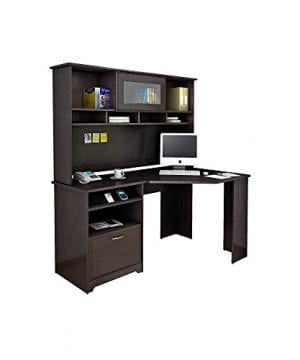 Bush Furniture Cabot Corner Desk With Hutch In Espresso Oak 0 300x360