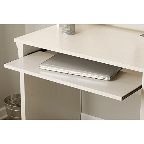 Bush Furniture Salinas Mission Desk With Hutch Lateral File Cabinet And 5 Shelf Bookcase In Antique White 0 2