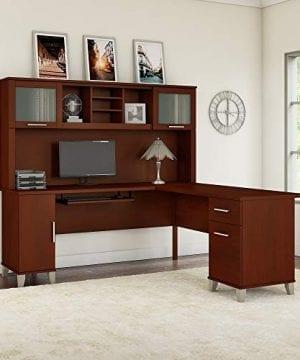 Bush Furniture Somerset 71W L Shaped Desk With Hutch In Hansen Cherry 0 0 300x360