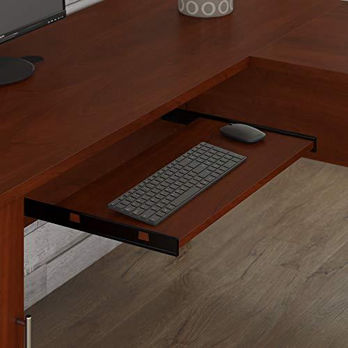 Bush Furniture Somerset 71W L Shaped Desk With Hutch In Hansen Cherry 0 2