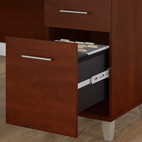 Bush Furniture Somerset 71W L Shaped Desk With Hutch In Hansen Cherry 0 3