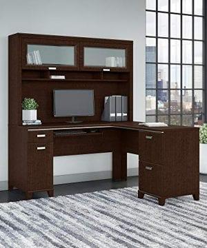 Bush Furniture Tuxedo L Shaped Desk With Hutch In Mocha Cherry 0 0 300x360
