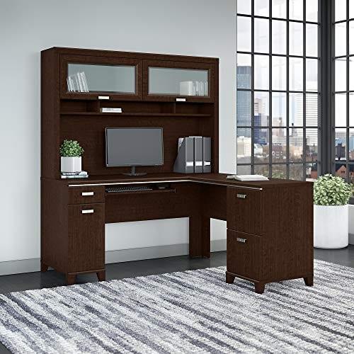 Bush Furniture Tuxedo L Shaped Desk With Hutch In Mocha Cherry 0 0