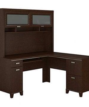 Bush Furniture Tuxedo L Shaped Desk With Hutch In Mocha Cherry 0 300x360