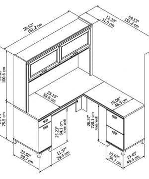 Bush Furniture Tuxedo L Shaped Desk With Hutch In Mocha Cherry 0 4 300x360