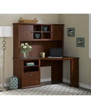 Bush Furniture Yorktown Corner Desk With Hutch In Antique Cherry 0 0 300x360