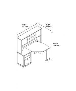 Bush Furniture Yorktown Corner Desk With Hutch In Antique Cherry 0 1 300x360