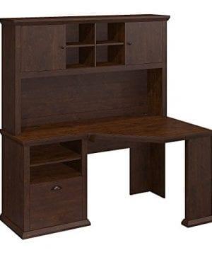Bush Furniture Yorktown Corner Desk With Hutch In Antique Cherry 0 300x360
