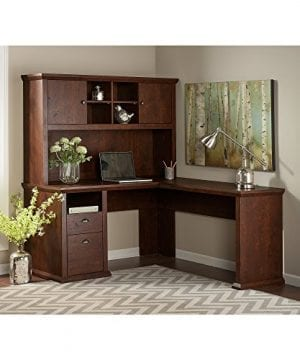 Bush Furniture Yorktown L Shaped Desk With Hutch In Antique Cherry 0 0 300x360