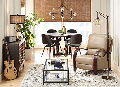 Calyx Industrial Downbridge Floor Lamp Bronze Cognac Glass Dimmable LED Edison Bulb For Living Room Reading Office Franklin Iron Works 0 2