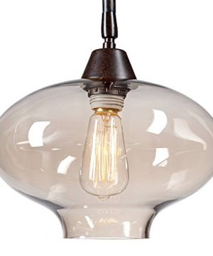 Calyx Industrial Downbridge Floor Lamp Bronze Cognac Glass Dimmable LED Edison Bulb For Living Room Reading Office Franklin Iron Works 0 5 300x360