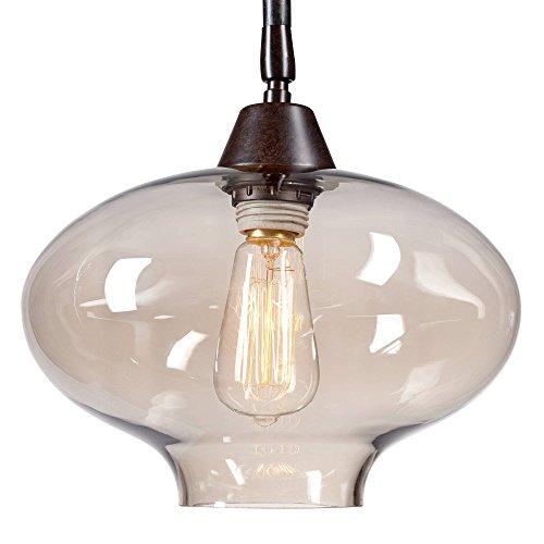 Calyx Industrial Downbridge Floor Lamp Bronze Cognac Glass Dimmable LED Edison Bulb For Living Room Reading Office Franklin Iron Works 0 5