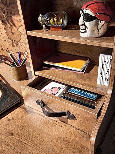 Cilek 2013110110 Pirate Desk With Hutch Brown 0 1