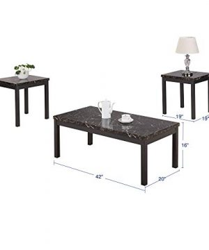 Civil Furniture 3 Piece Modern Faux Marble Coffee And End Table Set Living Room Furniture 0 0 300x360