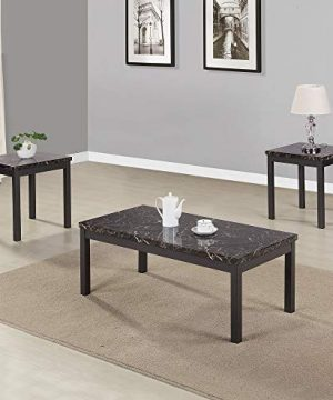 Civil Furniture 3 Piece Modern Faux Marble Coffee And End Table Set Living Room Furniture 0 300x360