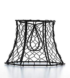 Cleveland Vintage Lighting 30398A Chicken Wire Clip On Shade Hexagonal Black 575 X 5 X 4 Inches 0 0 300x333