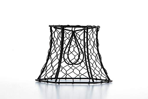 Cleveland Vintage Lighting 30398A Chicken Wire Clip On Shade Hexagonal Black 575 X 5 X 4 Inches 0 0