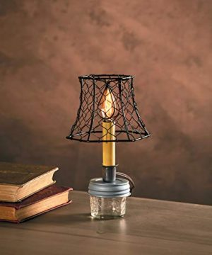 Cleveland Vintage Lighting 30398A Chicken Wire Clip On Shade Hexagonal Black 575 X 5 X 4 Inches 0 1 300x360