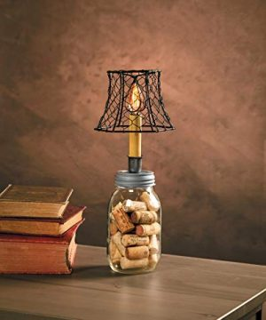 Cleveland Vintage Lighting 30398A Chicken Wire Clip On Shade Hexagonal Black 575 X 5 X 4 Inches 0 2 300x360