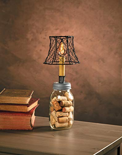 Cleveland Vintage Lighting 30398A Chicken Wire Clip On Shade Hexagonal Black 575 X 5 X 4 Inches 0 2
