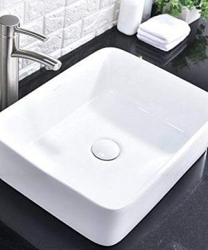 Comllen Counter White Porcelain Ceramic Bathroom Vessel Sink Art Basin 0 0 300x360