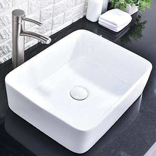 Comllen Counter White Porcelain Ceramic Bathroom Vessel Sink Art Basin 0 0