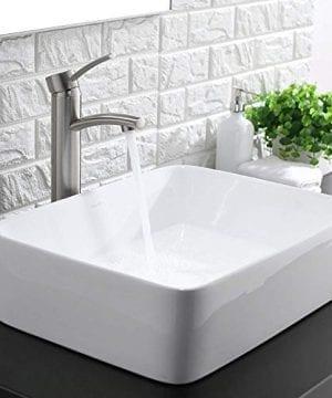 Comllen Counter White Porcelain Ceramic Bathroom Vessel Sink Art Basin 0 1 300x360